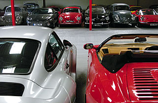 cars in the storage facility